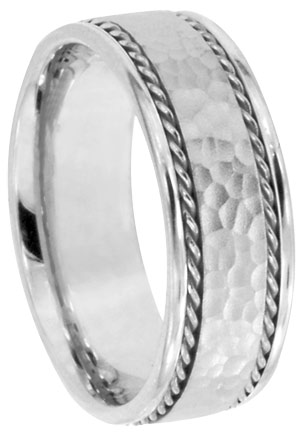 14K White Gold Bands 824